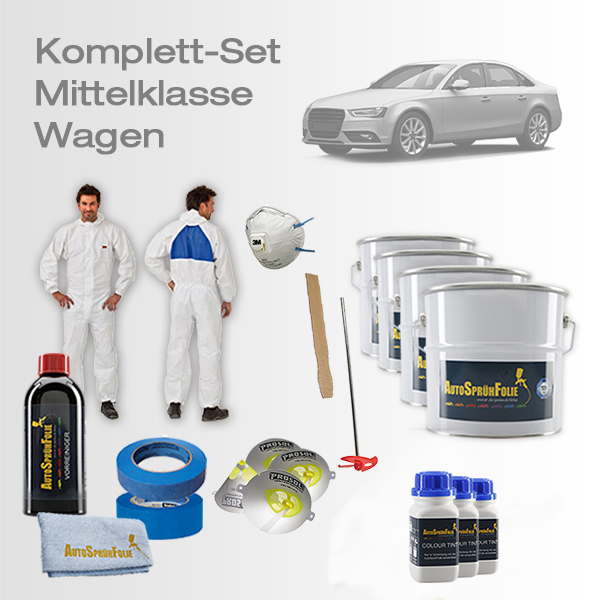 AutoSprühFolie Komplett-Set Mittelklasse Wagen
