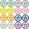 Pastellserie Farben - 4er Set + gratis Fächerschablone und Microfasertuch (€ 3,12 / 100 ml)