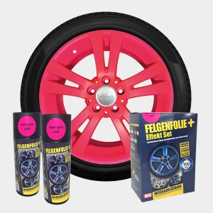 FELGENFOLIE+ Effekt Set, 2 x 400 ml, neon-pink (€ 3,12 / 100 ml)
