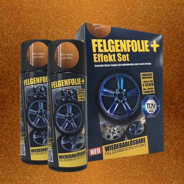 FELGENFOLIE+ Effekt Set, 2 x 400 ml, Perleffekt, Blaze Orange Pearl Effect (€ 3,75 / 100 ml)