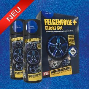 FELGENFOLIE+ Effekt Set, 2 x 400 ml, Kristalleffekt, Blue Ice Crystal Effect (€ 3,75 / 100 ml)