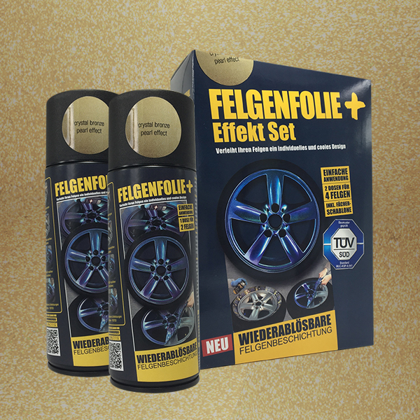 FELGENFOLIE+ Effekt Set, 2 x 400 ml, Perleffekt, Crystal Bronze Pearl Effect (€ 3,75 / 100 ml)