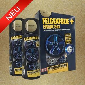 FELGENFOLIE+ Effekt Set, 2 x 400 ml, Perleffekt, Crystal Bronze Pearl Effect (€ 3,75 / 100 ml)