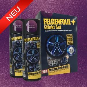FELGENFOLIE+ Effekt Set, 2 x 400 ml, Metallic Effekt, Frozen Red Metallic Effect (€ 3,75 / 100 ml)