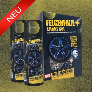 FELGENFOLIE+ Effekt Set, 2 x 400 ml, Goldeffekt (€ 3,75 / 100 ml)