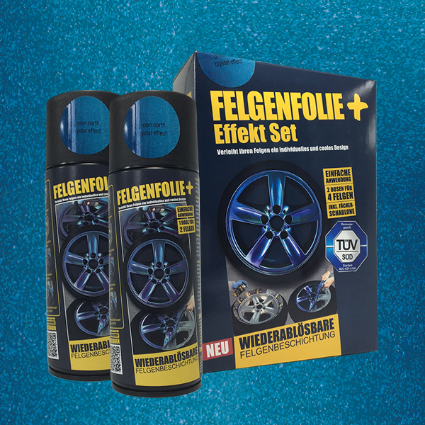 FELGENFOLIE+ Effekt Set, 2 x 400 ml, Kristalleffekt, Green Earth Crystal Effect (€ 3,75 / 100 ml)
