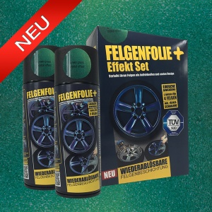 FELGENFOLIE+ Effekt Set, 2 x 400 ml, Kristalleffekt, Green Grass Crystal Effect (€ 3,75 / 100 ml)
