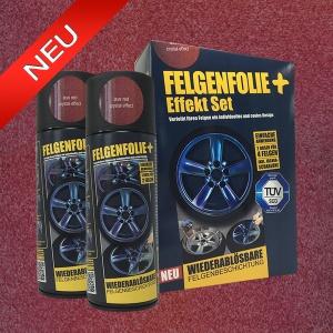 FELGENFOLIE+ Effekt Set, 2 x 400 ml, Kristalleffekt, Lava Red Crystal Effect (€ 3,75 / 100 ml)