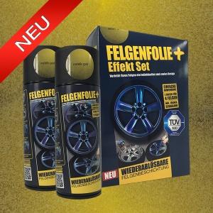 FELGENFOLIE+ Effekt Set, 2 x 400 ml, Metallic Effekt, Metallic Gold (€ 3,75 / 100 ml)