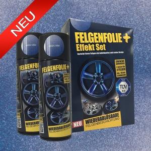 FELGENFOLIE+ Effekt Set, 2 x 400 ml, Metallic Effekt, Metallic Silber (€ 3,75 / 100 ml)