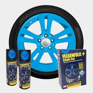 FELGENFOLIE+ Effekt Set, 2 x 400 ml, neon-blau (€ 3,12 / 100 ml)