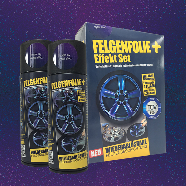 FELGENFOLIE+ Effekt Set, 2 x 400 ml, Kristalleffekt, Purple Sky Crystal Effect (€ 3,75 / 100 ml)