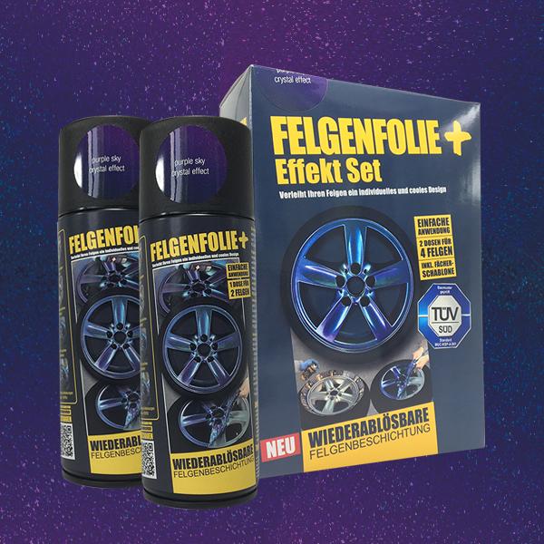 FELGENFOLIE+ Effekt Set, 2 x 400 ml, Kristalleffekt, Purple Sky Crystal Effect (€ 3,75 / 100 ml)