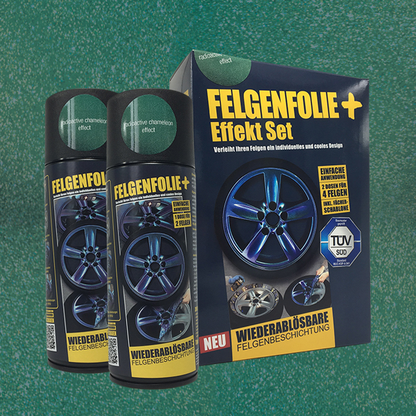 FELGENFOLIE+ Effekt Set, 2 x 400 ml, Chamäleon, Radioactive Chameleon Effect (€ 3,75 / 100 ml)