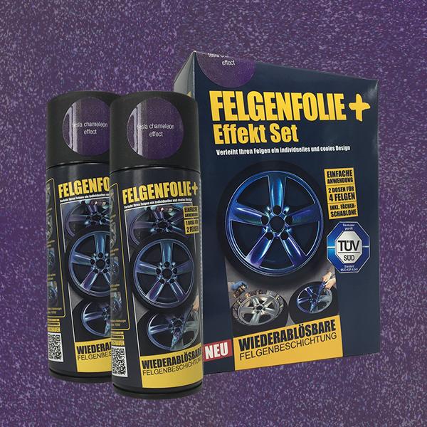 FELGENFOLIE+ Effekt Set, 2 x 400 ml, Chamäleon, Tesla Chameleon Effect (€ 3,75 / 100 ml)