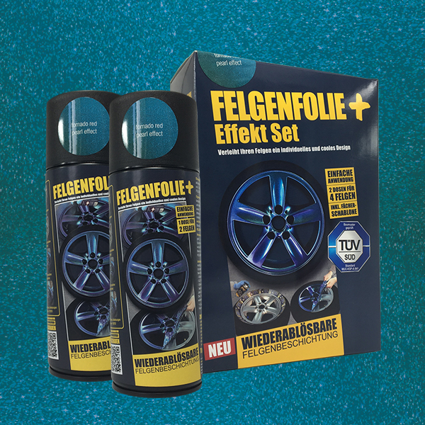 FELGENFOLIE+ Effekt Set, 2 x 400 ml, Perleffekt, Tornado Red Pearl Effect (€ 3,75 / 100 ml)