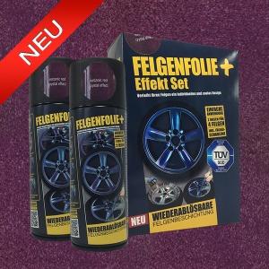 FELGENFOLIE+ Effekt Set, 2 x 400 ml, Kristalleffekt, Volcanic Red Crystal Effect (€ 3,75 / 100 ml)