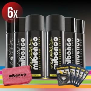 Neon Farben - 6er Set + gratis Fächerschablone und Microfasertuch