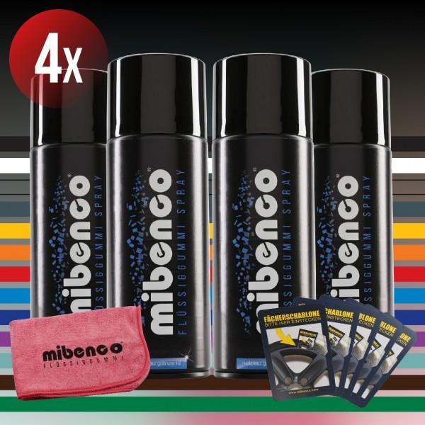Standard Farben - 4er Set + gratis Fächerschablone und Microfasertuch (€ 3,12 / 100 ml)