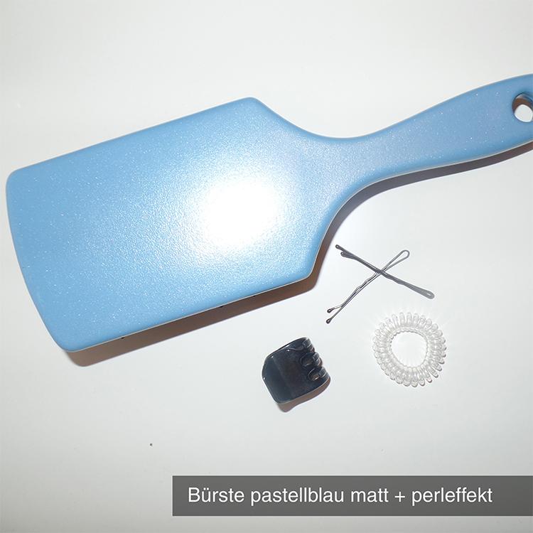 Bürste pastellblau matt perleffekt