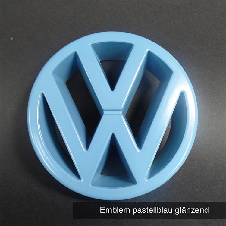 Emblem pastellblau glänzend