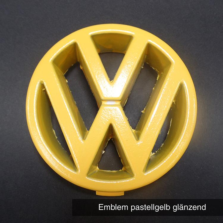 Emblem pastellgelb glänzend