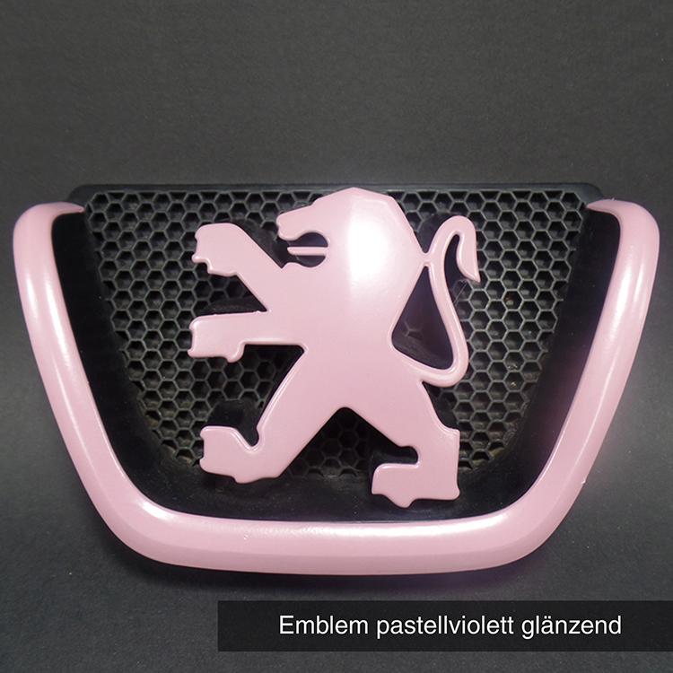 Emblem pastellviolett glänzend