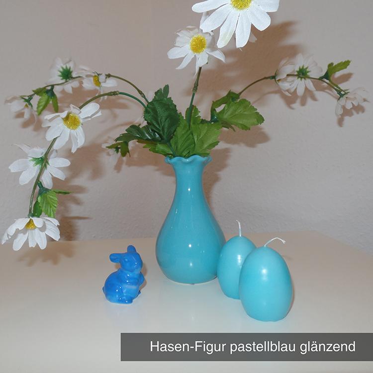 Hasen-Figur pastellblau glänzend