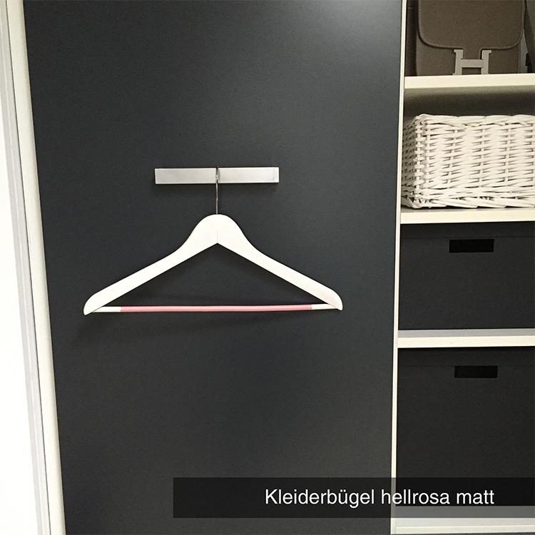 Kleiderbügel hellrosa matt