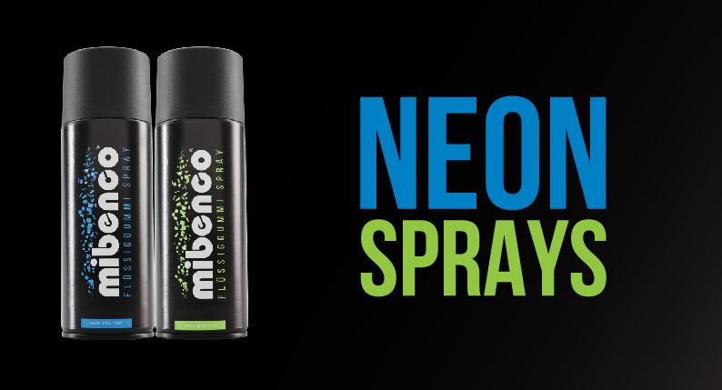 neon sprays banner