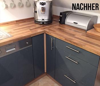 Küchenfront nachher rechte Seite