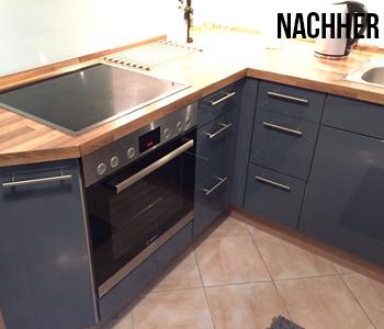 Küchenfront nachher linke Seite